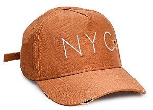 Boné NYC Caramelo Desfiado III