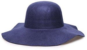 Chapéu Floppy Azul Liso