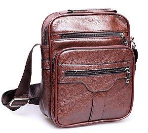Shoulder Bag Couro Marrom
