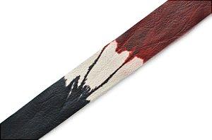 Faixa Couro Legitimo Estampa Tie Dye IV