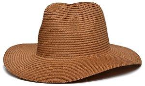 Chapéu Fedora Caramelo Palha Aba Maleável 8cm LISO