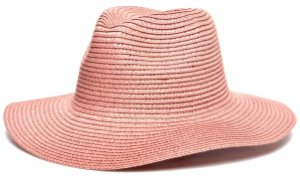 Chapéu Fedora Palha Aba Maleável 8cm Rosa LISO