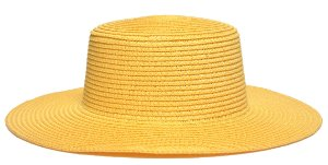 Chapéu Palheta Palha Aba Maleável 8cm Amarelo LISO