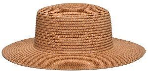 Chapéu Palheta Palha Aba Maleável 8cm Caramelo LISO