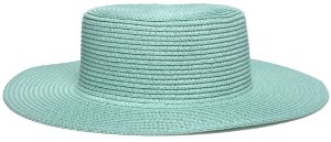 Chapéu Palheta Palha Aba Maleável 8cm Verde Água LISO