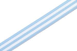 Coleção Elástica Stripes Faixa Azul Bebê e Branca