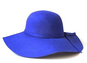 Chapéu Floppy Azul Royal Aba Grande