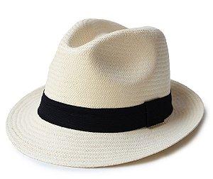 Chapéu Panamá Natural Aba Curta