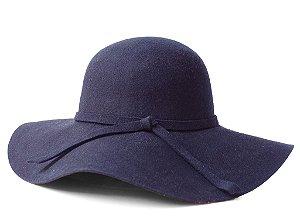 Chapéu Floppy Azul Marinho Aba Grande