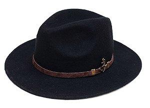Chapéu Fedora Preto Customizado Edição Especial