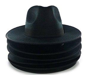 10 Chapéus Fedora Preto Aba Grande