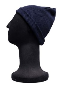 Touca Curta Azul Marinho Lisa