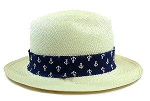 Chapéu Panamá Aba Média Âncora Custom Edição Especial