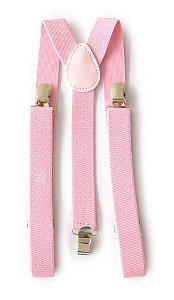 Suspensório Feminino Rosa Claro 2,5 cm