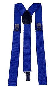 Suspensório Unissex Azul 2,5 cm