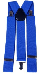 Suspensório Masculino Feminino Azul 3,5 cm