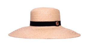 Chapéu Palheta Palha Carnauba Aba Grande 12cm Faixa Preta - Coleção Clássico