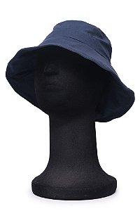 Chapéu Bucket Azul Marinho Maleável