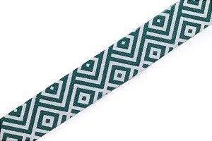 Faixa Verde e Branca Wide - Coleção Geométrica