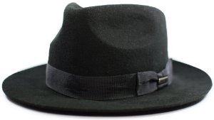 Chapeu Fedora Indiana Jones 100% lã Aba 5,5 cm
