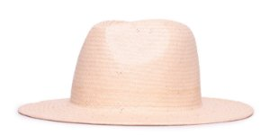 Chapéu Estilo Panamá Bege Aba 7cm Palha Shantung LISO