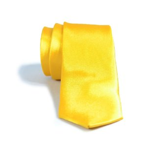 Gravata Slim Fit Amarela Masculina