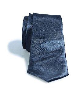 Gravata Masculina Slim Fit Azul Marinho