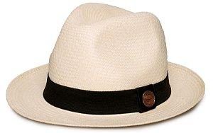 Chapéu Panamá Aba Curta Creme Tradicional Montecristi