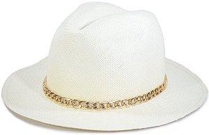 Chapéu Panamá Aba Média Faixa Corrente Customizada