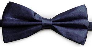 Gravata Borboleta Lisa Azul Marinho
