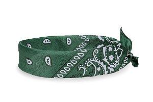 Bandana Estampada Verde Escuro