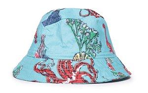 Chapéu Bucket Infantil Estampa Oceano