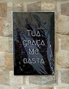 Placa Decorativa para Parede - Tua Graça me Basta