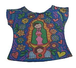 T-shirt Infantil Azul -  Nossa Senhora