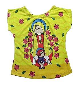 T-shirt Infantil Amarela -  Nossa Senhora