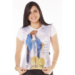 Camisa Nossa Senhora das Graças Lc 1,48
