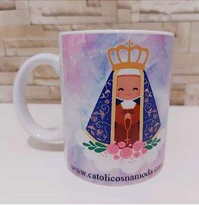Caneca de Porcelana Nossa Senhora Aparecida - Cuida de Mim