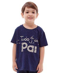 Camiseta Infantil Tudo é do Pai