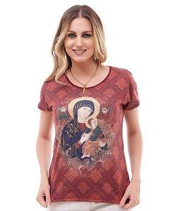 Blusa Nossa Senhora do Perpétuo Socorro - Coleção Pedraria