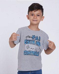 Camiseta Infantil Meu Pai está no Controle