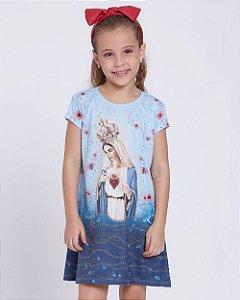 Vestido Infantil Imaculado Coração de Maria
