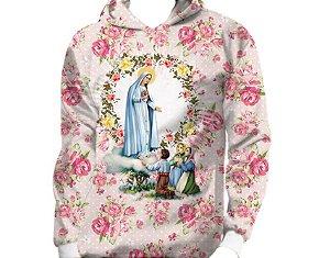 Moletom Infantil e Juvenil Nossa Senhora de Fátima - Capuz e Bolso