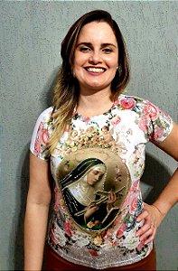 Baby Look Santa Rita de Cássia - Coleção Pedraria