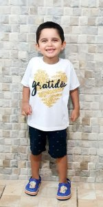 Camisa Gratidão - Infantil Menino