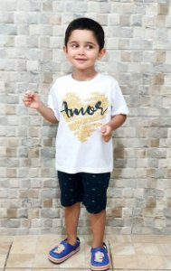 Camisa Amor - Infantil Menino