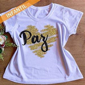 Camisa Paz - Infantil Menina