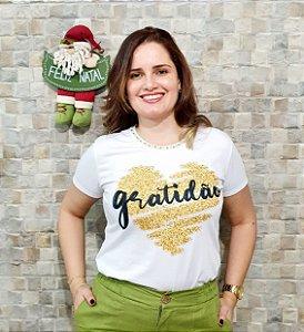T-shirt Gratidão - Feminina Adulto