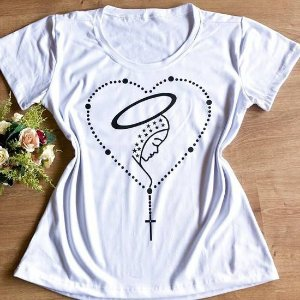 T-shirt Nossa Senhora com Terço