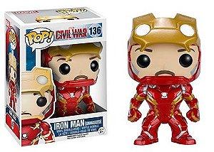Funko Pop Iron Man Unmasked Civil War Exclusivo Hot Topic