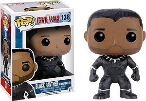 Funko Pop Civil War Black Panther Unmasked Exclusive